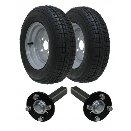 145 - 10 High speed trailer kit with hub & stub axles