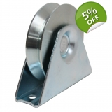 80mm V groove pulley wheel in bracket,..