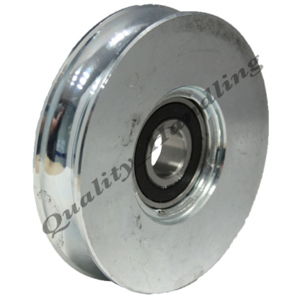 200mm pulley wheel round groove steel Double ball bearings 2BB