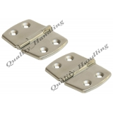 2 - Stainless steel hinges - 70mmx53mm..