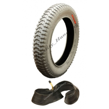 "1 new 12 1/2 x 2 1/4"" Grey Mobility Scooter tyre and tube"