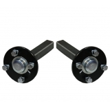 2x Hub & stub axles - 4 stud 100mm PCD..