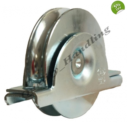 100mm pulley wheel in bracket,sliding gate,heavy duty for 16mm bar