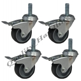 50mm 2 inch bolt hole braked castors w..