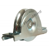 80mm pulley wheel in bracket, sliding ..