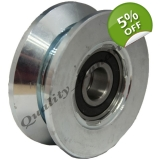 pulley wheel 80mm V groove Double bear..