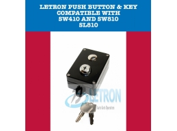 LETRON WIRELESS PUSH BUTTON & KEY- BLACK