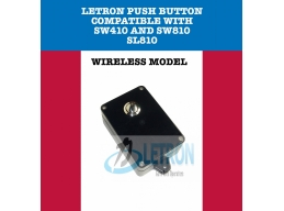 Letron Wireless Push Button- BLACK