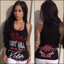 VIBE RED WOMENS TANK TOP