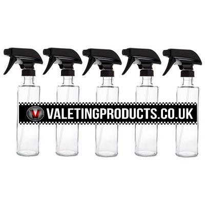 5 Pack of 1 Litre Trigger Spray Bottles title=