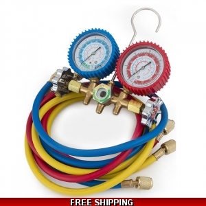 R32-R410-R22-R134a Air Conditioning & Refrigeration Gauges Manifold