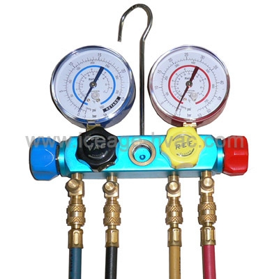 R22& R134a Air Conditioning & Refrigeration Gauges Manifold