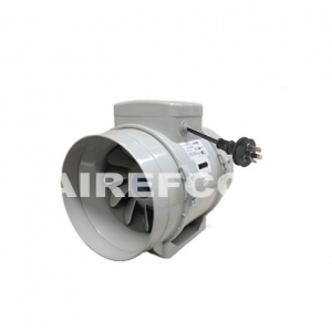 200 mm Airefco Inline Exhaust / Supply Fan - Industrial Turbo Fan
