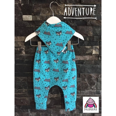 12-18m Blue Wolf Leggings
