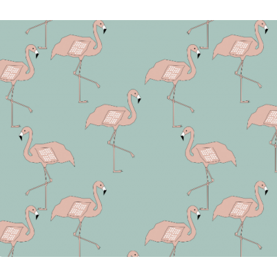 Flamingos on Dusty Mint Shor..