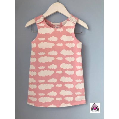 Baby Pink Cloud Pinafore Dress