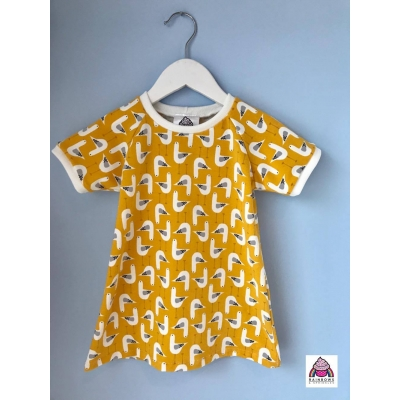 Mustard Seagull T-Shirt Dress