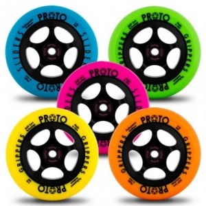 Proto Day glo gripper wheels..