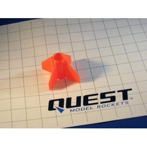 20mm Plastic Fin Unit Orange