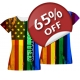 Gay Pride Girls T-shirt - US Flag Gay Pride Juniors shirts - All Over Sublimated LGBT fashion top