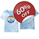 Gay Pride T-shirt - Peace Sign Gay Pride shirt - All Over Sublimated LGBT fashion tee