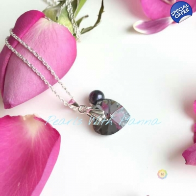 14mm Dark Heart Crystal Pendant