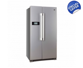 haier side by side fridge freezer frost free stainless steel. Black Bedroom Furniture Sets. Home Design Ideas