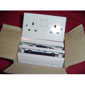13 AMP twin sockets pack X 5
