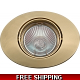 DOWNLIGHT POLISHED BRASS oval  BELOW C..