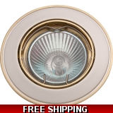 DOWNLIGHT BRASS+WHITE TILT BELOW COST ..