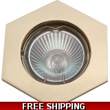 DOWNLIGHT POLISHED BRASS MR16BELOW COS..