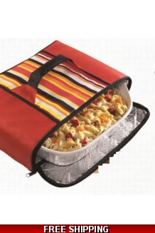 Insulated Zippered Collapsible Food Carrier