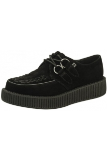 Black Suede, Single Sole TUK Creepers. UK P&P In..
