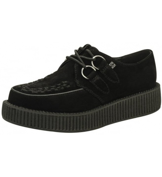 Black Suede, Single Sole TUK Creepers. UK P&P Included