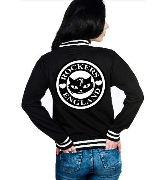 Rockers England Cat Varsity Jacket - UK P&P Included
