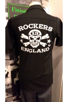 Work Shirt, Rockers England Vince Ray Logo. UK P&P Included