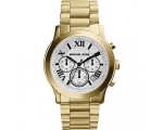 Michael Kors Cooper Chronograph White Dial Gold-..