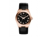 Michael Kors Channing Black Dial Rose Gold-tone ..