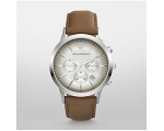 Armani AR2471 Chronograph Tan Leather Men's Watch