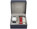 Nautica A09920G with Leather Strap Men's Quartz ..