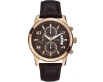 Guess W0076G4 Gents Brown Calfskin Steel Case Ch..