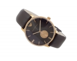 Emporio Armani AR0383 Brown Leather Strap Watch