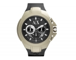 Armani Exchange Black and Grey Dial Black Rubber..