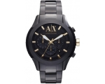 Armani Exchange Black Dial Black IP Stainless St..