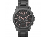 Armani AX Exchange Grey Dial Gunmetal Ion-plated..