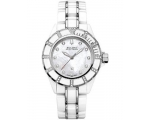 Bulova Accutron 65R137 Womens White Ceramic Mira..