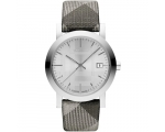 Burberry BU1873 Silver Shimmer Check Fabric Stra..