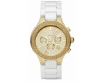 DKNY Ceramic Chrono Gold-Tone Dial Women's Watch..