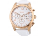 Hugo Boss 1502310 Silver Dial White Leather Ladi..