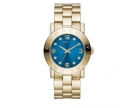 Marc by Marc Jacobs Amy Blue Dial Gold-tone Ladi..